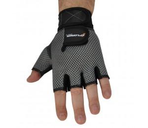 Fitnes rukavice Xplorer sive-koža